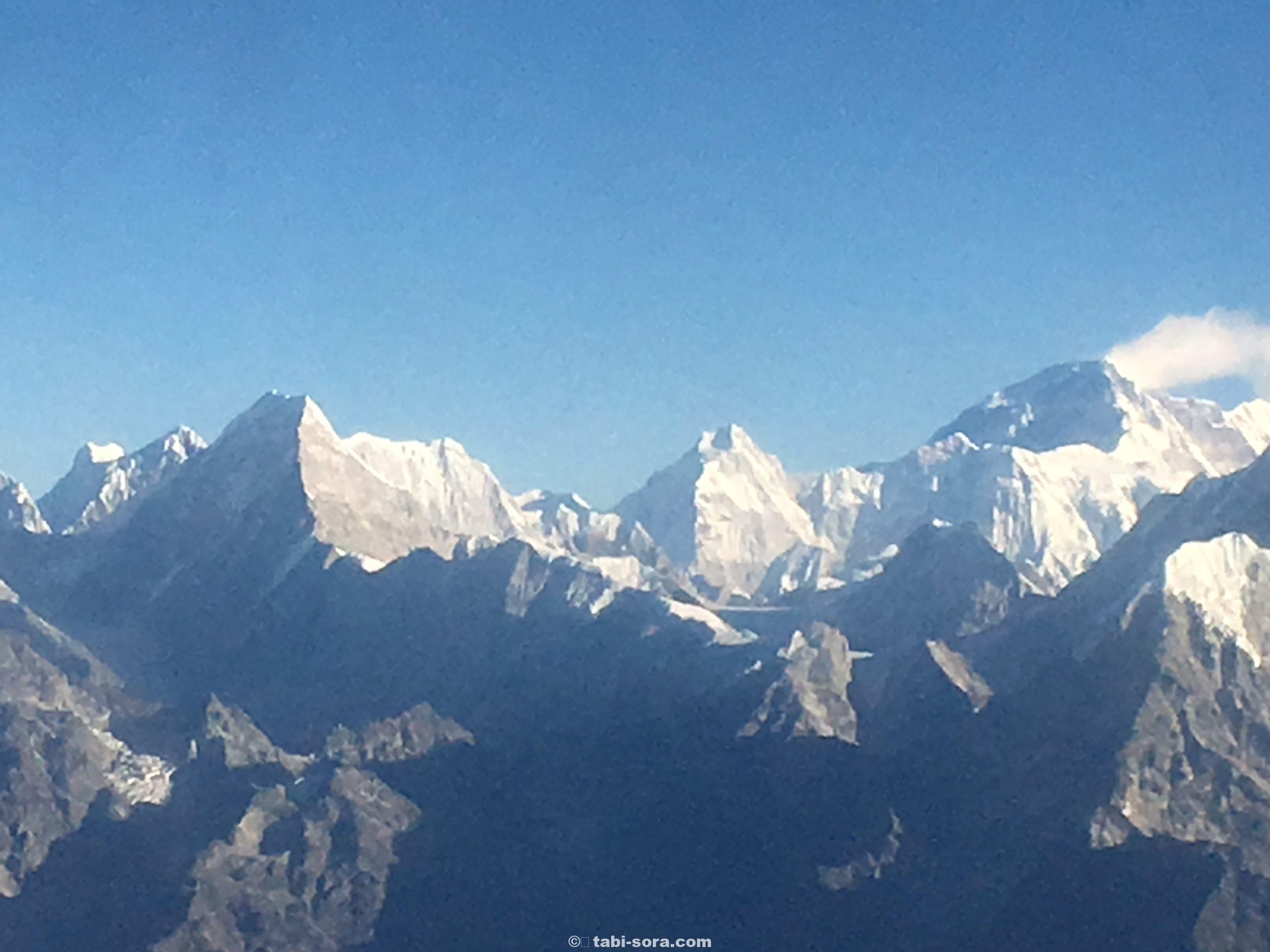 飛行機からのエベレスト