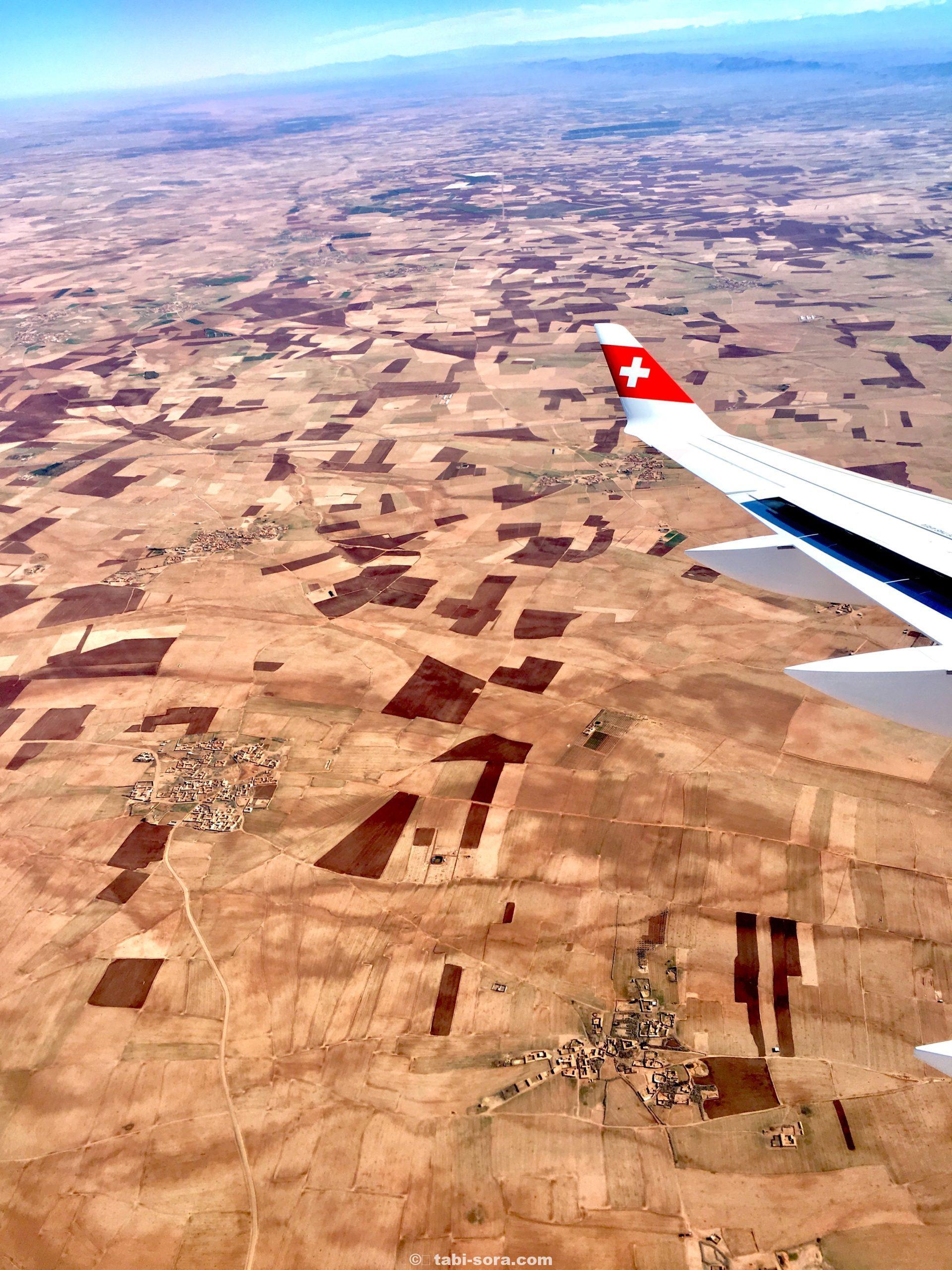飛行機からのモロッコ