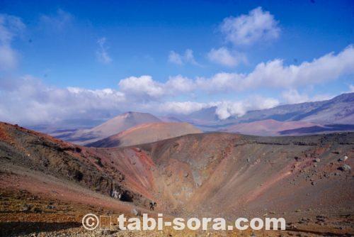 ハレアカラ内の噴火口