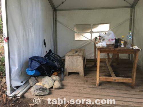 フランシアキャンプ場の休憩所