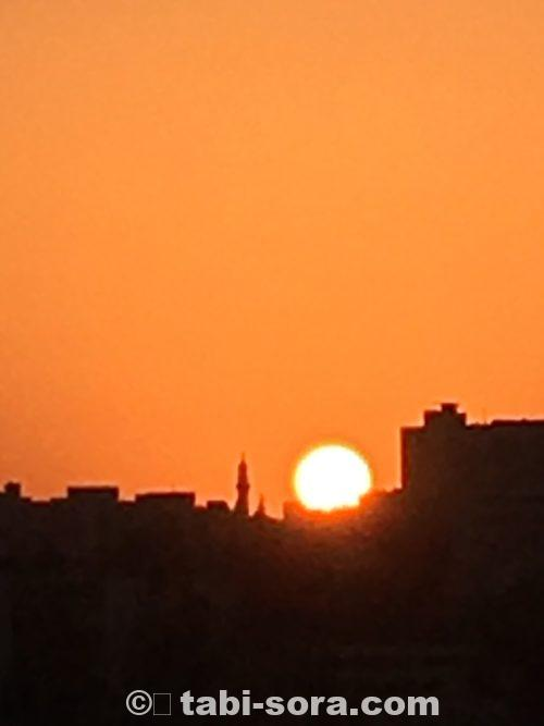 アンマンの夕陽