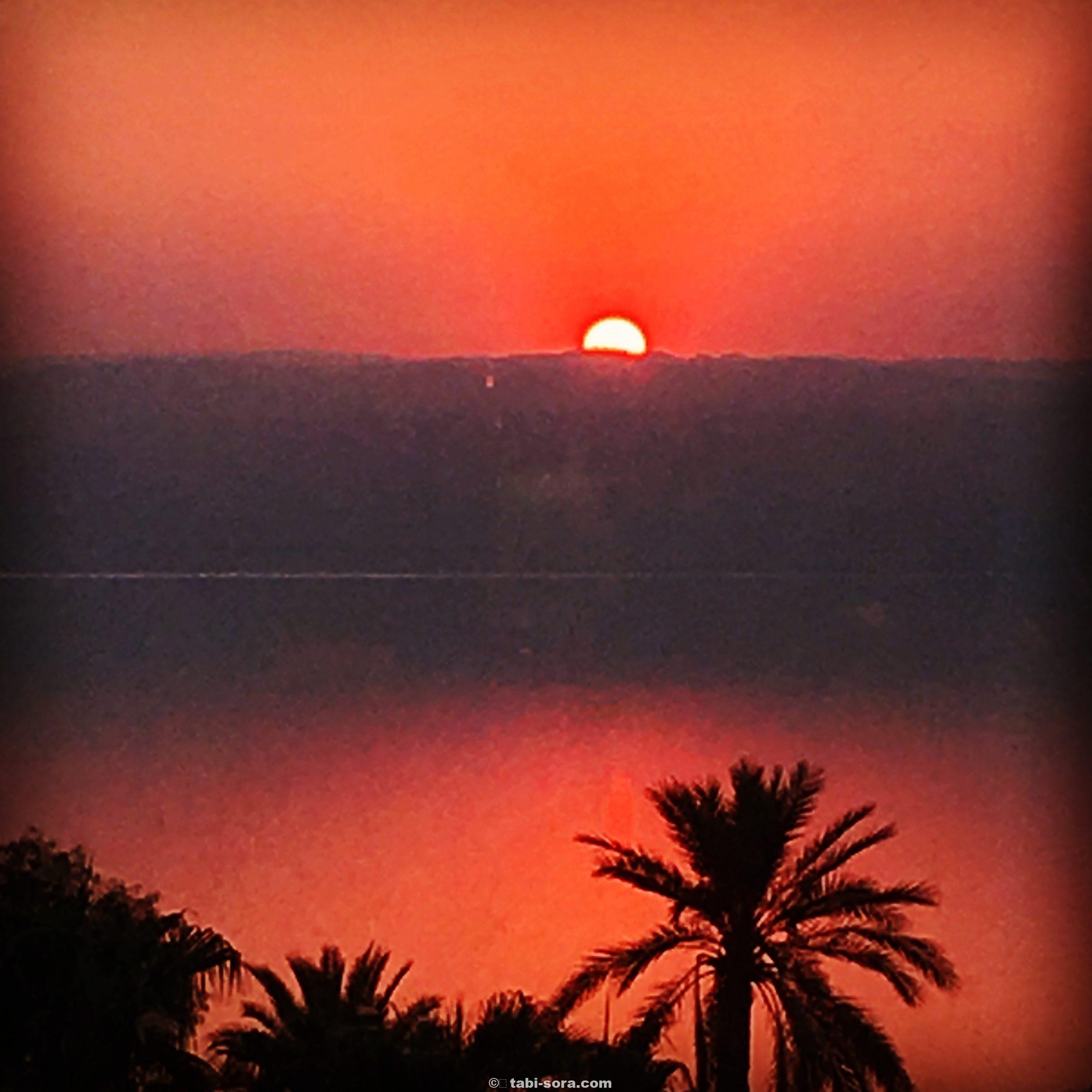 死海の夕陽