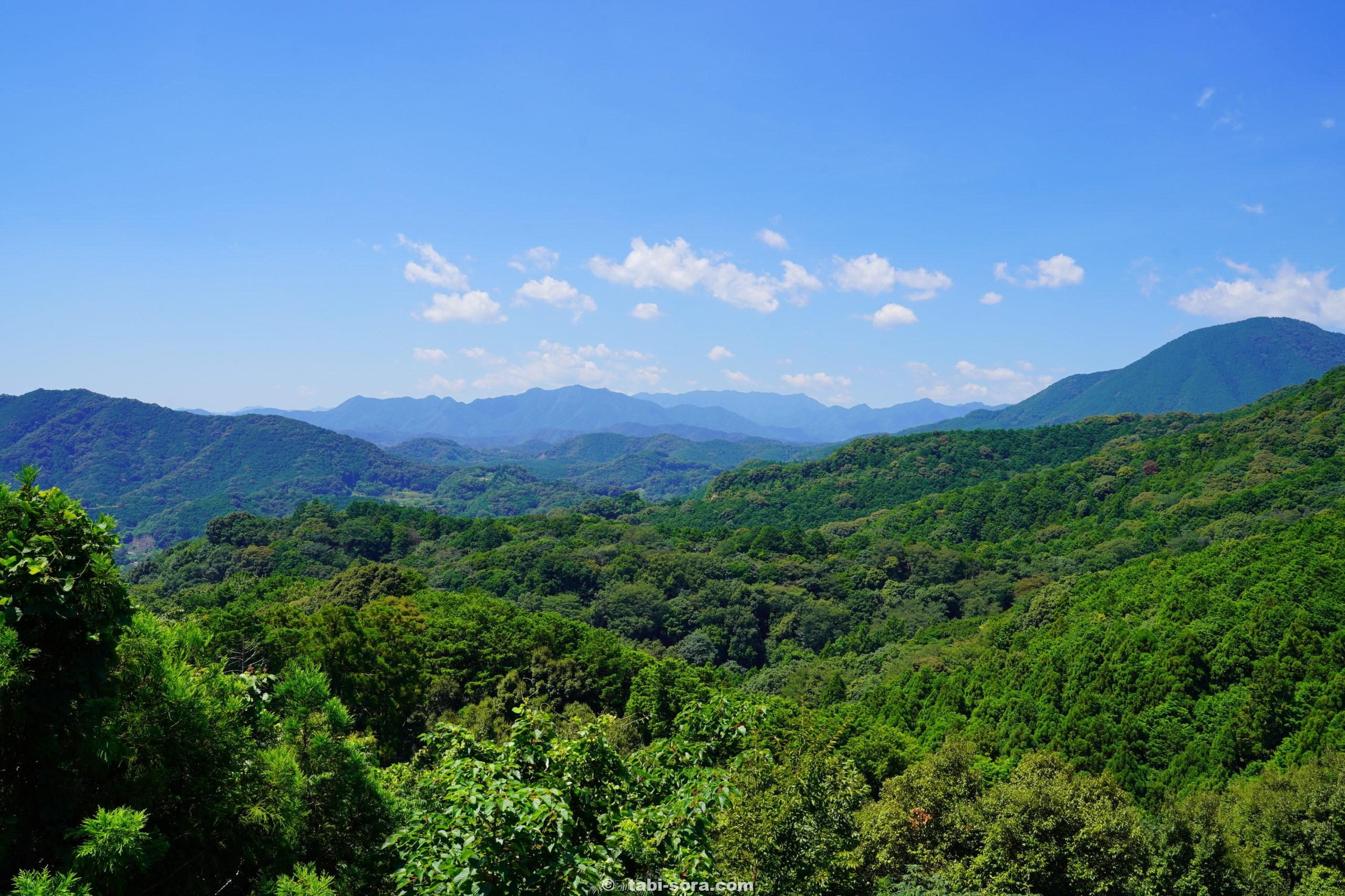 熊野の山並