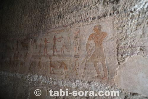 お墓の中の壁画