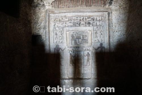 お墓の中の壁画。ヒエログラフ