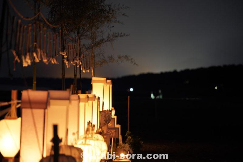 灯籠の灯りが力を増す